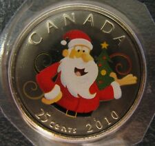 2010 - 25-cent - Santa Christmas Tree - Holiday - Original Sealed - One Coin