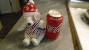1999 Collectible Coca-Cola Bean Bag Plush Polar Bear In Striped Vest New