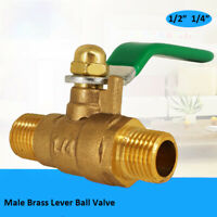"""BSP Brass Lever Ball Valve Female x Female Ends 3/8"""" Male x Male Ends 1/4""""1/2"""""""