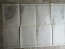 vintage NAUTICAL CHART INDIAN OCEAN SOUTHERN PART 1964 MAP