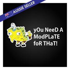 Mocking Spongebob Modplate Sticker FG BA BF JZX GT GTR R31 R32 Chaser S14 S15