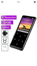 MP3 Player 32GB Bluetooth 4.2 Music Player with FM Radio Recording Large Screen