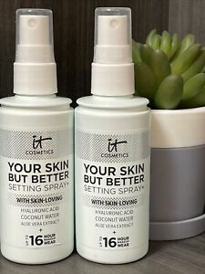 2 NEW IT Cosmetics Your Skin But Better Makeup Setting Spray + FULL SIZE 3.4 Oz