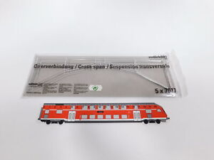 CT6-0, 5 # Märklin H0/AC cross-Connection 5x 7017 Catenary Mint + Box Unopened