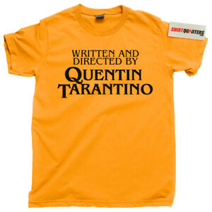 Written and Directed by Quentin Tarantino Pulp Fiction movie fan tee t shirt