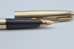 Lovely Rare Vintage Parker No 65 Fountain Pen Gold Plated Barrel & Cap - Working