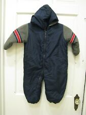 Athletic Works boys 24 months 1-piece Navy Blue fleece snowsuit bunting~hood