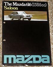 1977 MAZDA 616 SALOON Sales Brochure UK Market