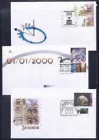 ISRAEL STAMPS 1999 2000 MILLENNIUM LAST & FIRST & CHRISTMAS DAY 3 FDC SET