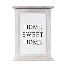Caja de llaves Corazón Marco Blanco Madera Armario Para LLaves Home Sweet Home