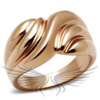 Women's IP Rose Gold Plated Ion Plating Fashion Ring No Stone 5 6 7 8 9 10 GL214