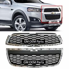 Front Radiator Upper LOW Grille 2PCS For GM Chevrolet Captiva 2013+ OEM Parts