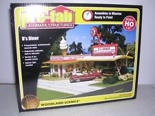 WOODLAND SCENICS #PF5188  D's Drive-In Diner - Building Kit  H.O.Scale 1/87
