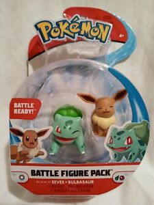 NEW Pokemon Battle Figure Pack 97886 BULBASAUR + EVEE Factory Sealed