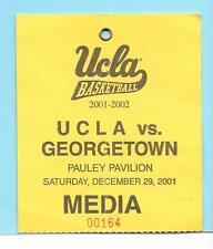 2001-02 UCLA Bruins Vs Georgetown Hoyas Media/Press Credential Ticket 12/29/2001