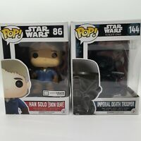 Star Wars Funko Pop Imperial Death Trooper #144 AND Han Solo Snow Outfit #86 LOT