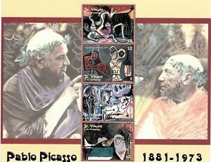 St. Vincent 2003 - SC# 3114 Pablo Picasso, Art, Oil - Sheet of 4 Stamps - MNH