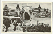 Scotland - Glasgow, Good Luck Multiview - Postcard franked 1951