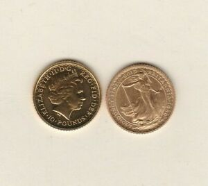 BULLION GOLD 1/10th OUNCE BRITANNIA BEST PRICE COIN IN EXTREMELY FINE CONDITION