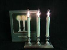 Restoration Hardware Nickel Triple Window Candle Lamp Holiday Lights Brand NEW