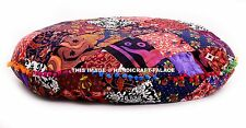 Large Dog Bed Cover Ethnic Cotton Cushion Round Pet Bed Meditation Floor Pillow