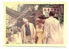 Portrait de rue Chine Tourisme- photo ancienne couleur an. 1972