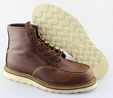Men's RED WING '1907 Classic Moc' Brown Leather Boots Size US 9 - D