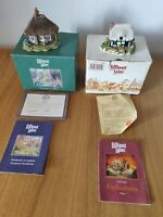 Vintage Lilliput Lane Riverview and Pipit Toll Cottage's With Box & Deeds Bundle