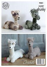 King Cole 9081 Crochet Pattern Alpaca Toy Doorstop in Big Value Super Chunky