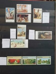 AUSTRALIA-1974/89-HIGH VALS-PAINTINGS & GARDENS TO $10 ETC-FACE $46-UNM MINT-MNH