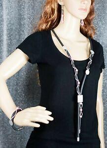 Set Lagenlook-Kette/Armband/Ohrhänger ~XXL~ Modeschmuck Kette/Armband/Ohrhänger