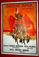 CHATOS LAND 1972 CHARLES BRONSON JACK PALANCE WESTERN RARE EXYU MOVIE POSTER #2