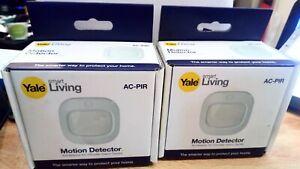 Yale Smart Living AC-PIR Wireless Motion Detector, White X 2