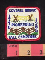 Vtg 1965 COVERED BRIDGE PIONEERING FALL CAMPOREE BSA Boy Scouts Patch C80X