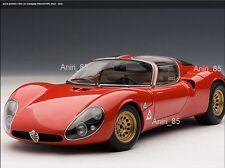 1:18 Autoart 70191 Alfa Romeo 33 Stradale Prototype 1967 rojo nuevo & OVP rareza