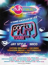 Publicité Advertising 2011 - FUN RADIO  (Advertising paper)