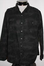 Converse One-Star Hombres XL Camuflaje / Camuflaje Botón-para Arriba Camisa