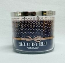 Bath & Body Works Home Black Cherry Merlot 3-Wick Candle 14.5 oz