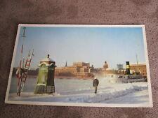 Swedish postcard - Winter scene Stockholm