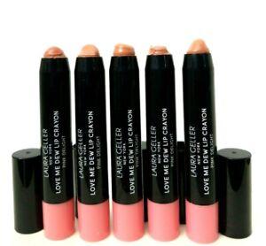 5 pk LAURA GELLER Love Me Dew Lip Crayon PINK DELIGHT 0.10oz ea unbox SWAT TIPS