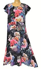 TS dress TAKING SHAPE plus size S / 16 Fireworks Floral Dress silky NWT rrp$170!