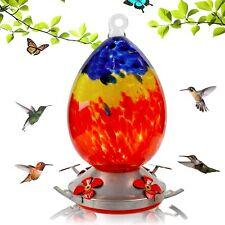 New listing Juegoal Hummingbird Feeder for Outdoors, 27oz Hand Blown Glass Hummingbird Feede