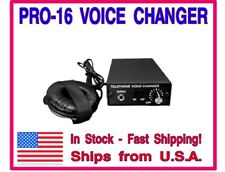 16 Level Professional Telephone Voice Changer Unit. Fool Everyone you talk to!