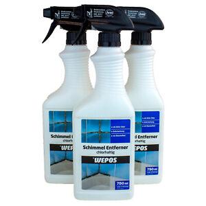 Wepos Schimmel-Entferner Chlorhaltig Schimmelvernichter-Spray 750 ml (7,93€/1l)