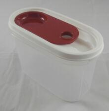 Tupperware Eidgenosse Pro 1,1 l Schüttbehälter Schiebedeckel Weiß / Rot Neu OVP