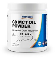 Nutricost C8 MCT Oil Powder 0.5LB - 95% C8 MCT Oil Powder