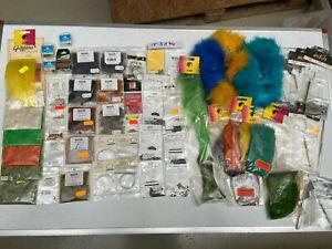 Fliegenbindematerial Lagerware z.B.Werkzeug CDC Dubbing Federn Chenille uvmT3194