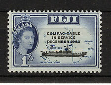 FIJI 1963 COMPAC CABLE PLATE BLOCK OF 4 MNH