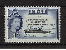 Fiji 1963 Compac Cavo PIASTRA BLOCCO DI 4 Gomma integra, non linguellato