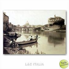 Amarcord Rome IMPRESSION SUR TOILE POUR PEINTURE 70x50 CITY VIEUX PHOTO